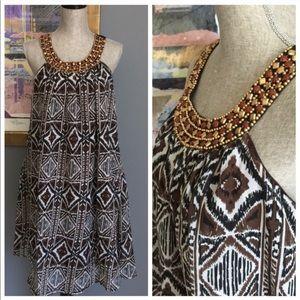 MAGIC Chiffon Beaded Collar Dress